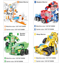 Mini Transformation Cars Kid Classic Robot Tank Plane Chariot Truck Model Car Toys For Children Gifts