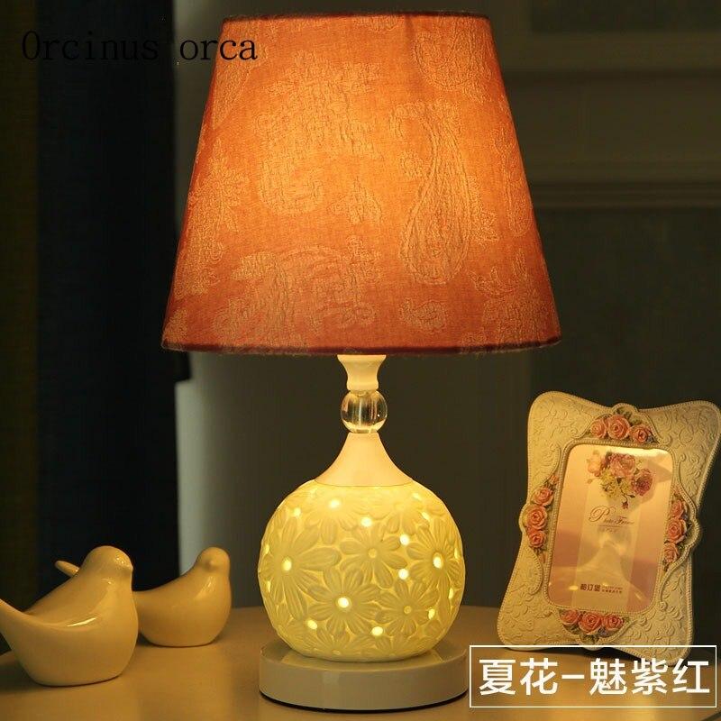 Европейский стиль простой Гостиная Исследование прикроватная тумбочка для спальни американский стиль Nordic современный керамический свети...