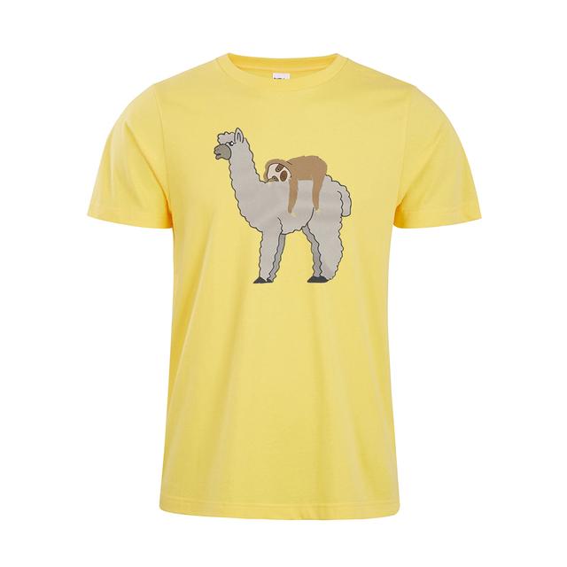 Cute & Funny Sleepy Sloth and Llama Women's Premium Short Sleeve T-Shirt Cute Sloth Llama unisex Shirt
