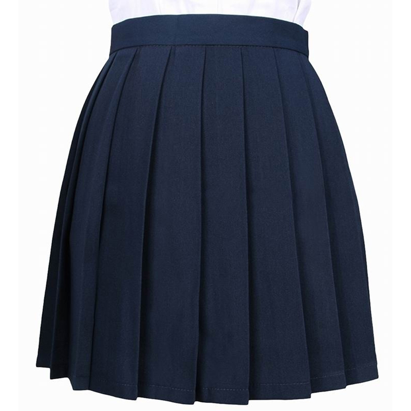 Japanese School Uniform Harajuku Skirts Solid A-line Sailor Skirt Women High Waist Ball Pleated Skirts