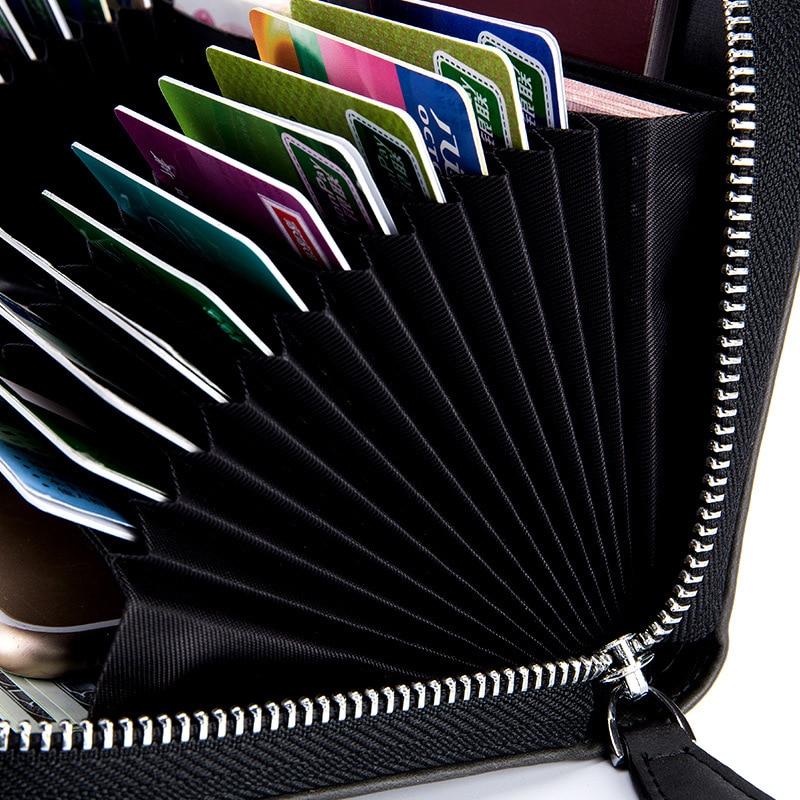 Kvinnor Pass Cover RFID Läder Unisex Card Holder Plånbok Man Travel - Plånböcker - Foto 3
