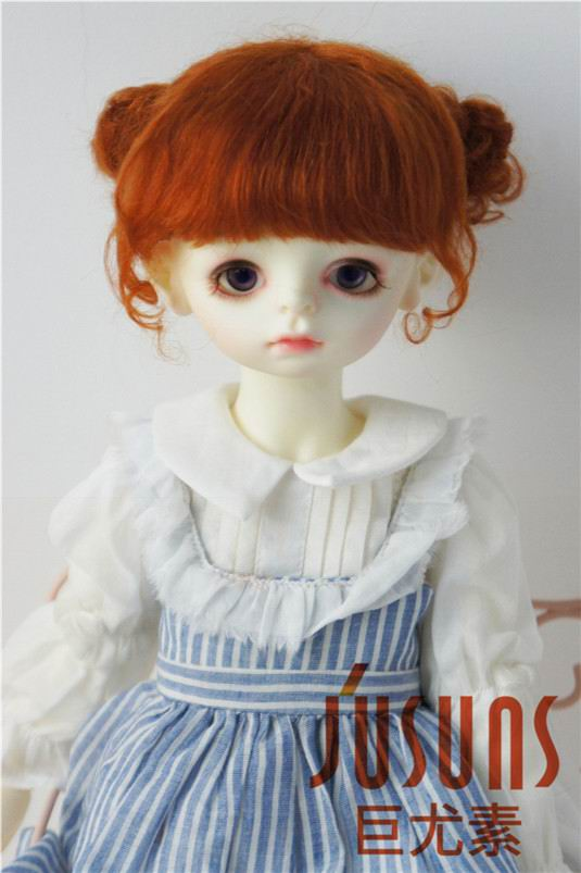 JD406 1/3 SD Lovely two pony BJD mohair doll wigssize 8-9inch mohair doll wig fashion Doll accessories 1 3 1 4 1 6 1 8 1 12 bjd wigs fashion light gray fur wig bjd sd short wig for diy dollfie