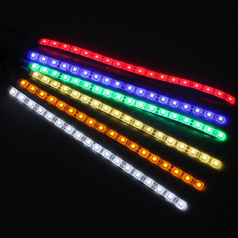 30CM 18 LED Strip Light 5050 SMD Computer Case Flexible LED Strip Light 12V Waterproof Tape Red Blue Green Yellow Warm White