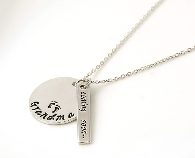 New fashion alloy jewelry grandma coming soon letter pendant new fashion alloy jewelry grandma coming soon letter pendant necklace women necklacespendants love gifts free shipping in pendant necklaces from jewelry aloadofball Image collections