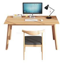 Настольный компьютер настольный бытовой простой современный Массивный деревянный ножки студенческий стол простой маленький стол спальня