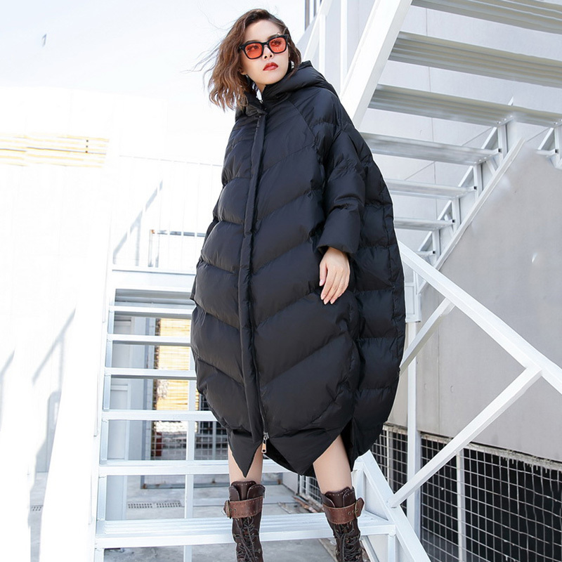 À Noir rembourré Grande red gray 2019 Femmes Mode Nouveau Black Taille Parkas Manches Ji973 Longues De Coton blue Épaississement Capuchon Manteau eam Printemps Lâche 0OtqwF