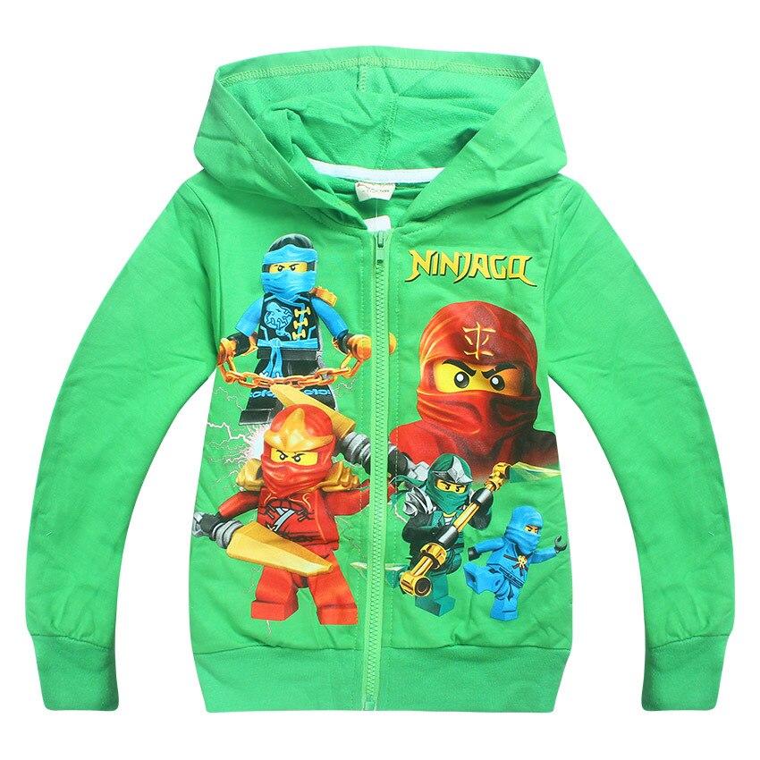 2017 Autumn Cartoon Boys Girls Ninjago Hoodies Children Long Sleeve T-Shirts Kids Clothing Sweatshirts Boy Sport Coats 3-10Y 1