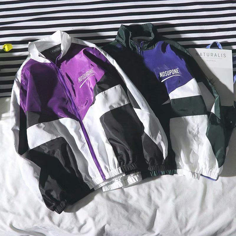 Jacket Men Windbreaker 2020 Spring/Autumn Hip Hop Couple Thin Jacket Loose Large Size Zipper Coat Trend Handsome CollarJackets
