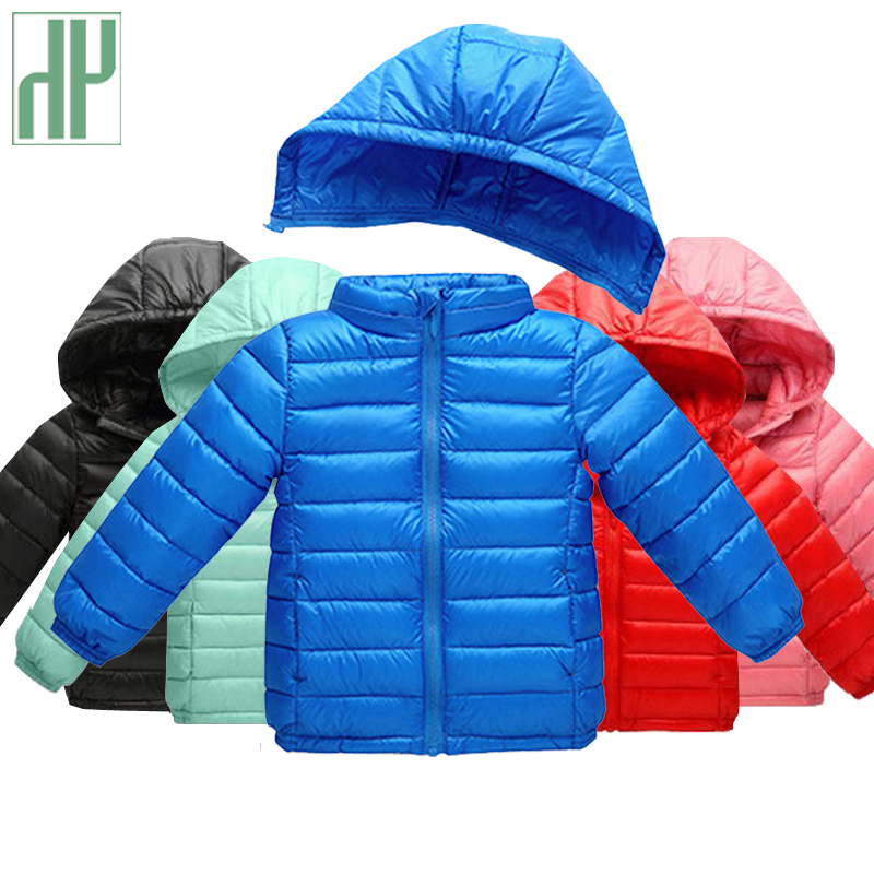 HH Children jacket for girls baby boys winter jacket Thick warm duck down jacket 1 2 3 5 Year Light Hooded kids coat outerwear russia winter boys girls down jacket boy girl warm thick duck down