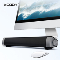 XGODY IP08 Powerful Soundbar for TV PC Wireless Speaker Bluetooth with Mic Handsfree TF Card Player Subwoofer Sound Bar Column