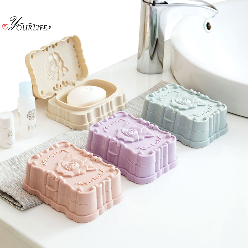 OYOURLIFE Creative European Style Waterproof Soap Dish Outdoor Travel Soap Organization Case Bathroom Soap Holder With Cover in Portable Soap Dishes from Home Garden