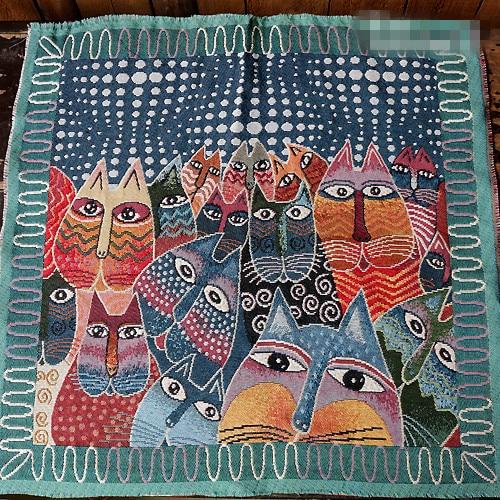 50x50cm Cotton Linen Jacquard Ethnic Fabrics for Pillows Cushion ...