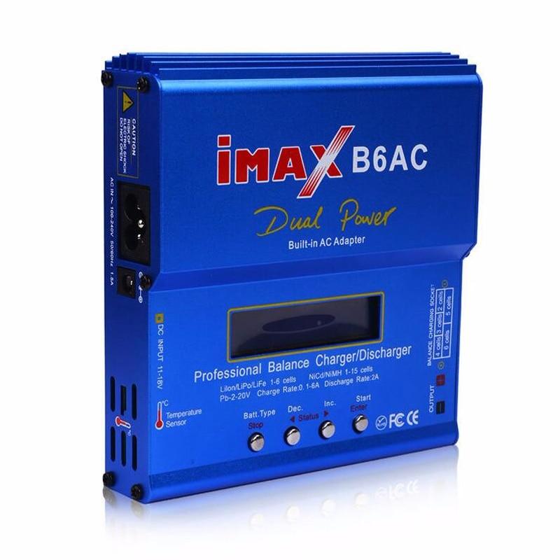 80W IMAX B6AC RC Balance Lipo Battery Charger B6 AC Nimh Nicd lithium Battery + EU/US/UK/AU plug power supply wire free shipping tec 02 battery capacity testing instrument nicd and nimh lithium iron battery mobile power measuring instrument
