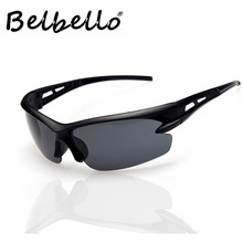 Belbello Sports Glasses Women Sunglasses Solid Colour Fashion Men Semi-Rimless Popular Trend UV400