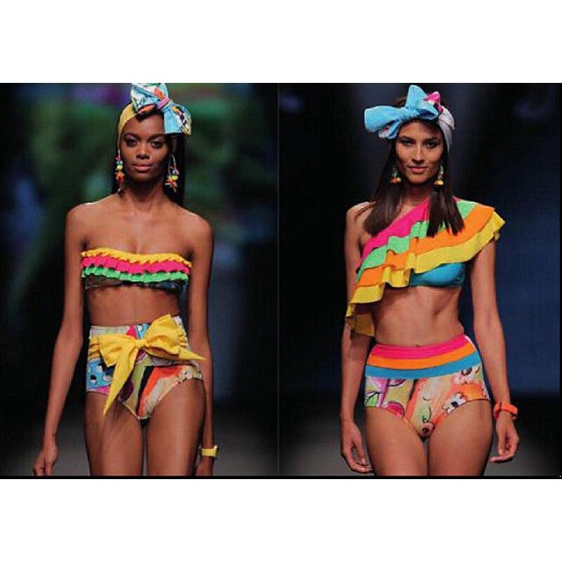 489bd32c358 Biquine Women'S 2018 Lady Plavky Bikini Top Xxl Push Up Tops Cover Swim  Suit Rainbow Bandeau Bowknot Bottom M Maio Feminino-in Bikinis Set from  Sports ...