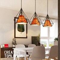Modern Birdcage Metal Cage Minimalist Pyramid Pendant Light Hanging Ceiling Lamp