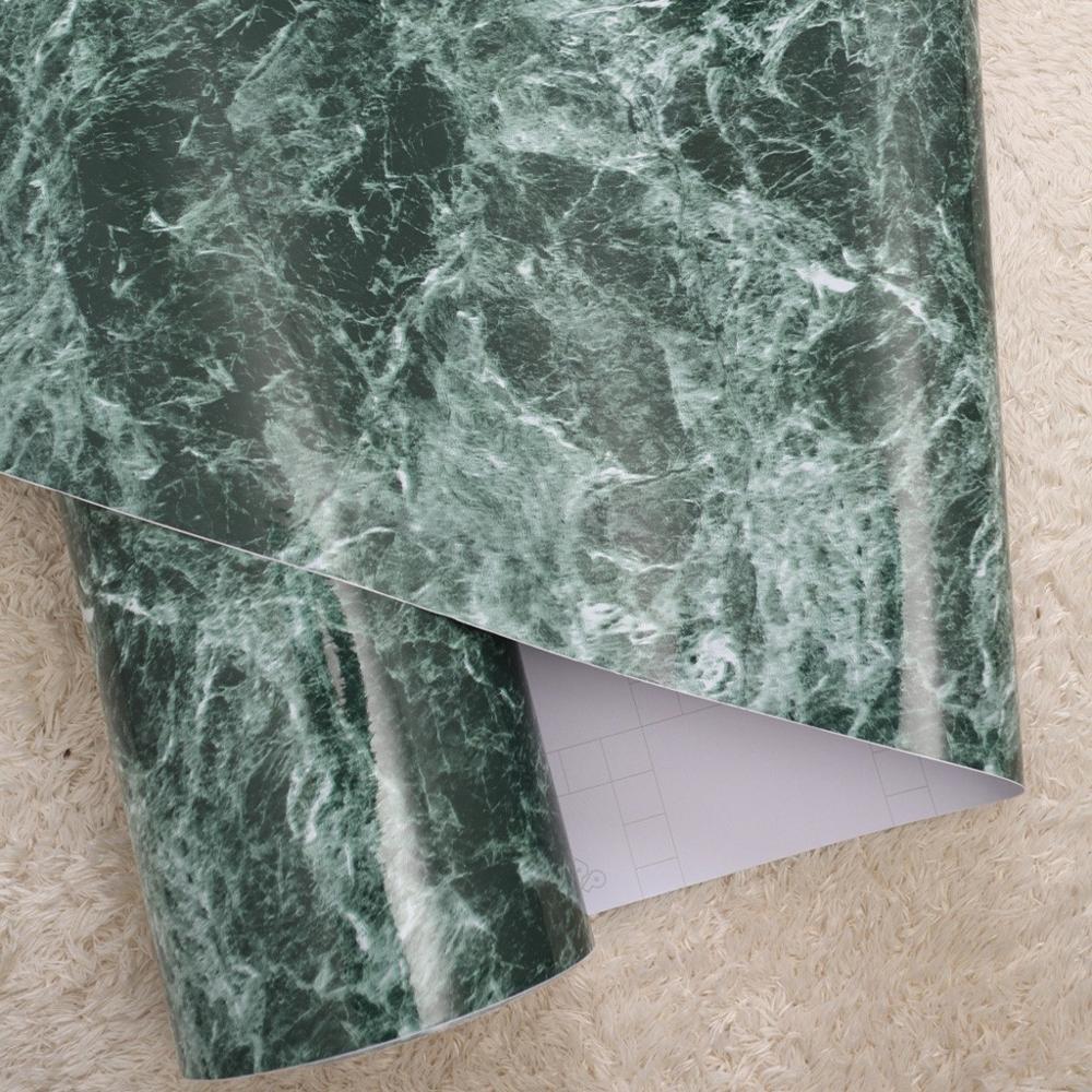 Chaud 120 cm large marbre cuisine poêle à huile autocollants PVC remis à neuf armoires de salle de bains étanche auto-adhésif papier peint meubles