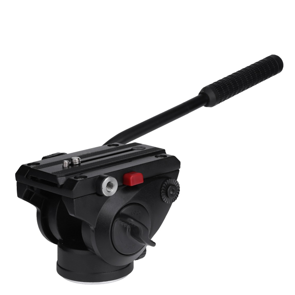 Professional Quick Release Aluminium Alloy Hydraulic Damping Panoramic PTZ Tripod Ball Head For DSLR Camera Tripod Monopod fluid head rocker arm camera tripod head quick release hydraulic damping panoramic ptz tripod ball head for camera
