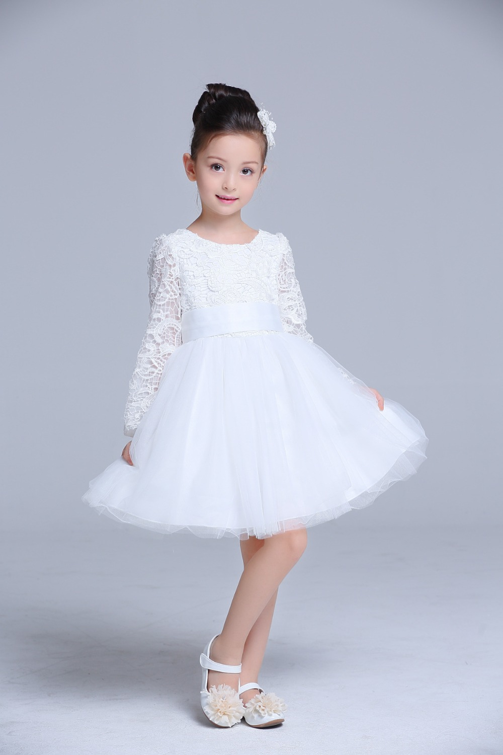 White flower girls bridesmaid dress teenager evening gown long white flower girls bridesmaid dress teenager evening gown long lace kids weeding dresses for birthday weeding party in dresses from mother kids on ombrellifo Images