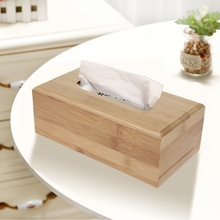2 размера бамбуковая коробка для салфеток для дома и автомобиля Прямоугольная форма контейнер для салфеток полотенце держатель для салфеток Kleenex для дома и офиса Настольный