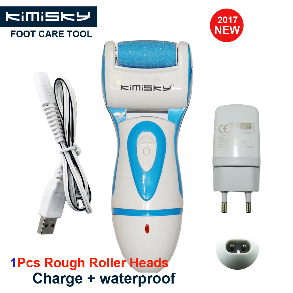 KIMISKY Blue/Red RECHARGEABLE Foot Care Tool Pedicure Personal Care Foot File Electric Pedicure Tools 1Ps Sholls Rollers Heads