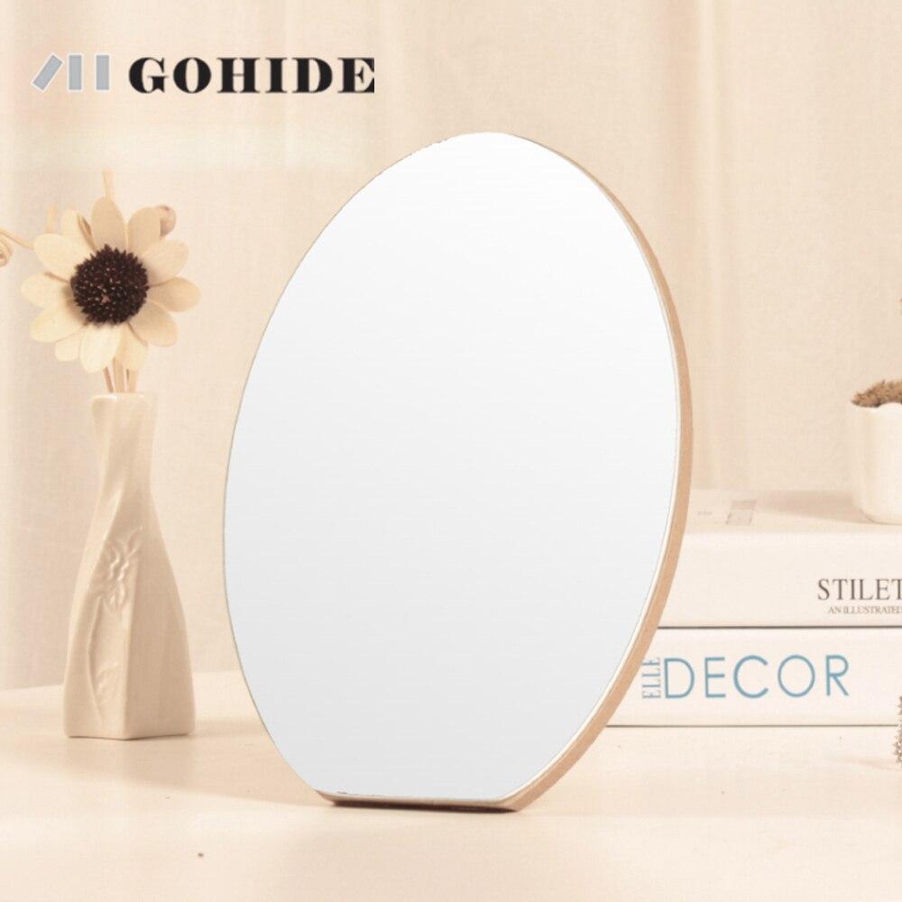 DUHD un escritorio de madera moda espejo cosmético espejo de madera ...