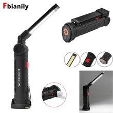Новый 5 Режим удара фонарик факел USB Перезаряжаемые светодиодный свет работы магнитного удара Lanterna крючок лампы для наружного Camping
