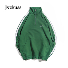 Jvzkass 2018 autumn new neutral womens pullover female loose student American retro sports shirt tide Z230