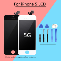 1PCS AAA Quality No Dead Pixels LCD For IPhone 5 LCD Display Screen Touch Screen Digitizer