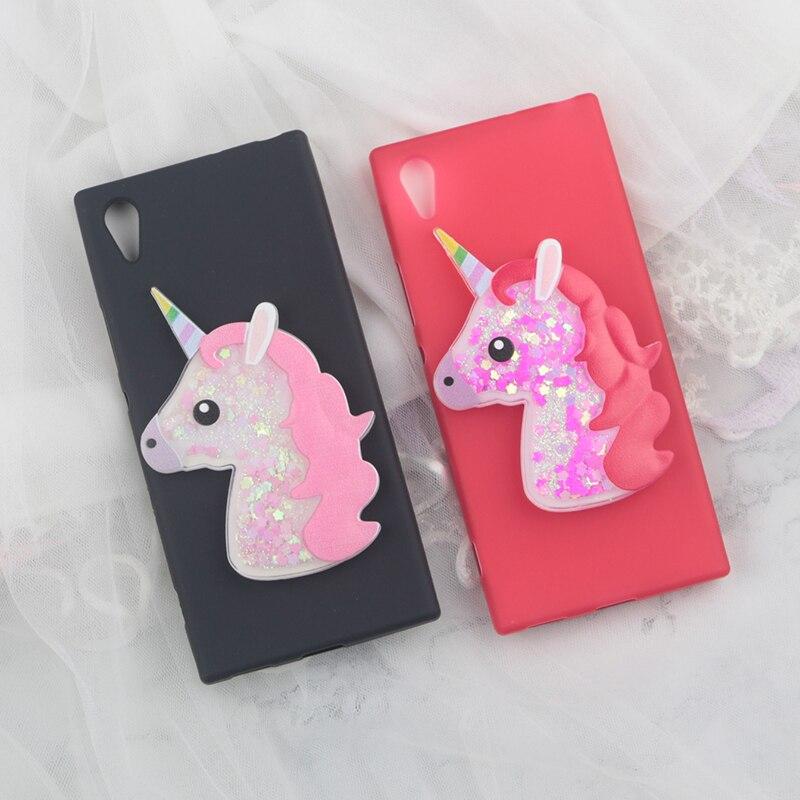 Cute Horse Cartoon Case For Google Pixel 2 XL Cases Glitter Quicksand Unicorn Cover For Plixel2 XL 2XL