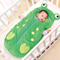 Baby Sleeping Bag Envelope For Baby Footmuff Winter Sleep Bag Frog Pattern Cute Anti Tipi Zipper Design Newborn Baby Sleepsacks