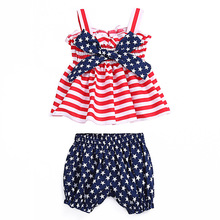 4th of july outfit girls boutique outfits toddler girl summer clothes 2019 kids christmas cotton fashion sleeveless striped