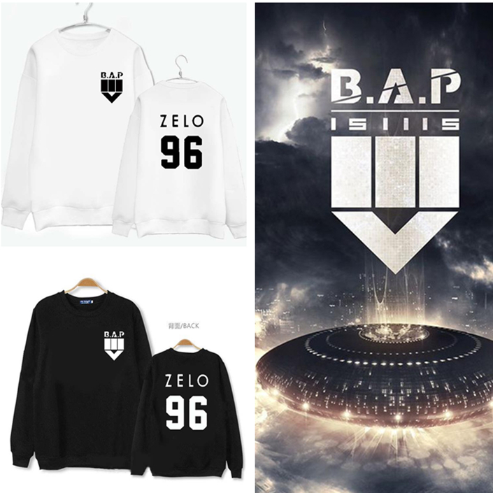 Kpop BAP BAP four series mini album fall 2016 men and women couple hooded clothing k-pop concert t Outerwears