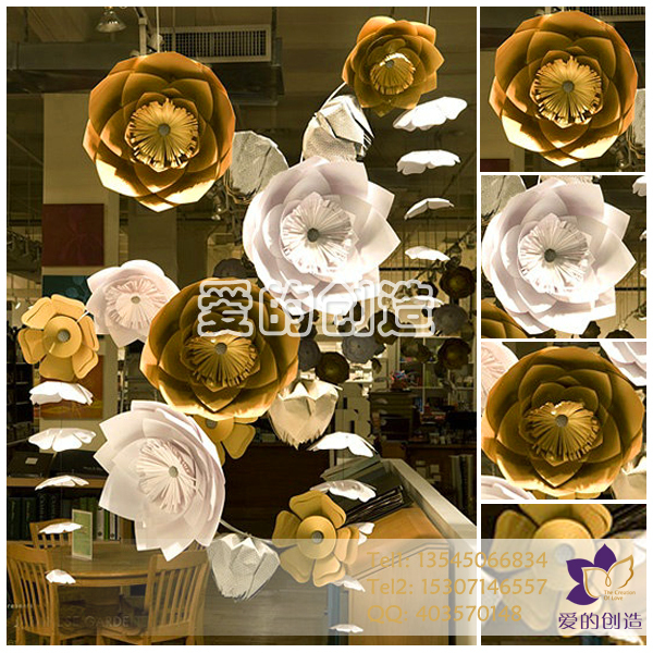 Handmade wall decoration flower customize wedding artificial flower handmade wall decoration flower customize wedding artificial flower large paper flowers for wedding background decoration in artificial dried flowers from mightylinksfo