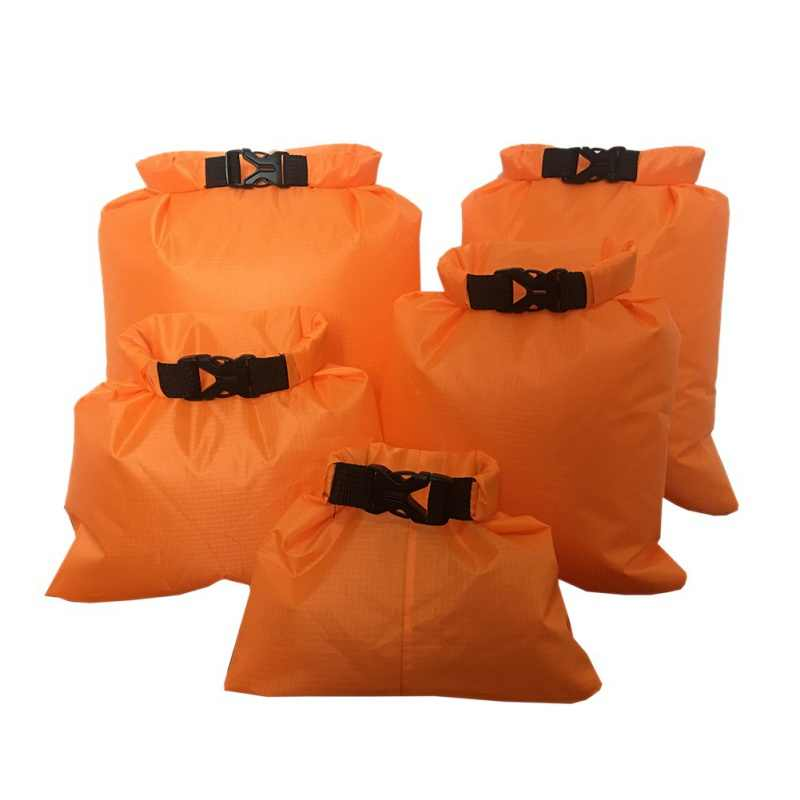 5 Buah/Set Kolam Tahan Air Tas Berkemah Rafting Penyimpanan Bag dengan Adjustable Tali Hook