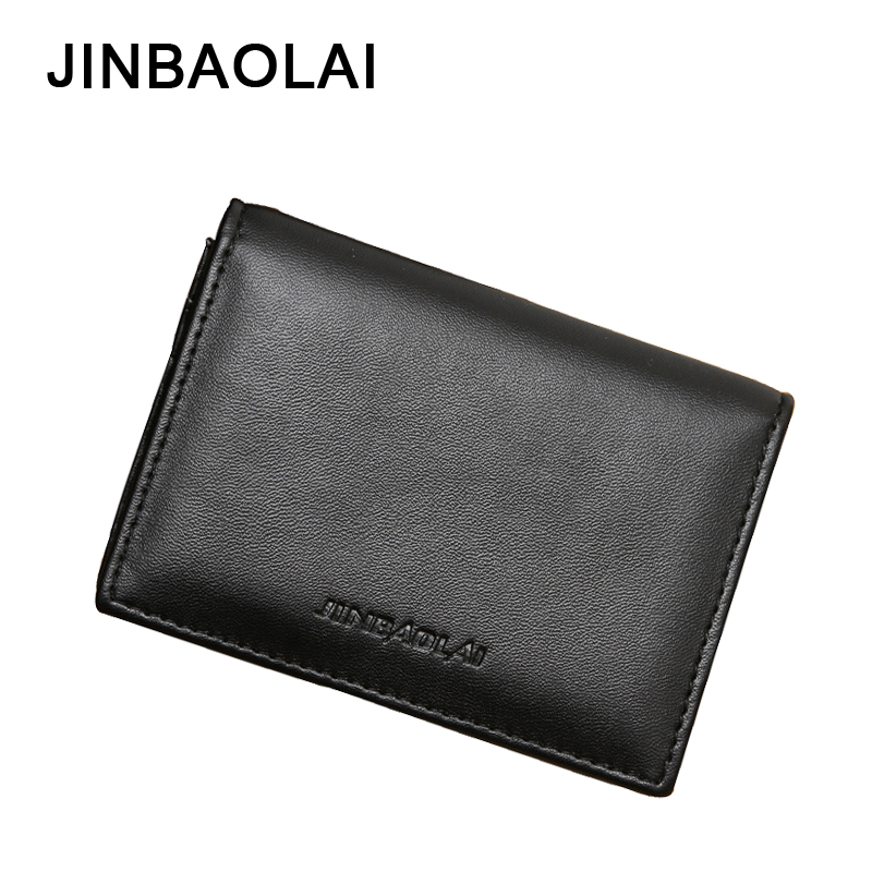 все цены на JINBAOLAI Brand Wallet PU Leather Men Wallets Soft Solid Short Purse Money Bag Multi-Card Bit Men's Clutch Wallet Coin Purses онлайн