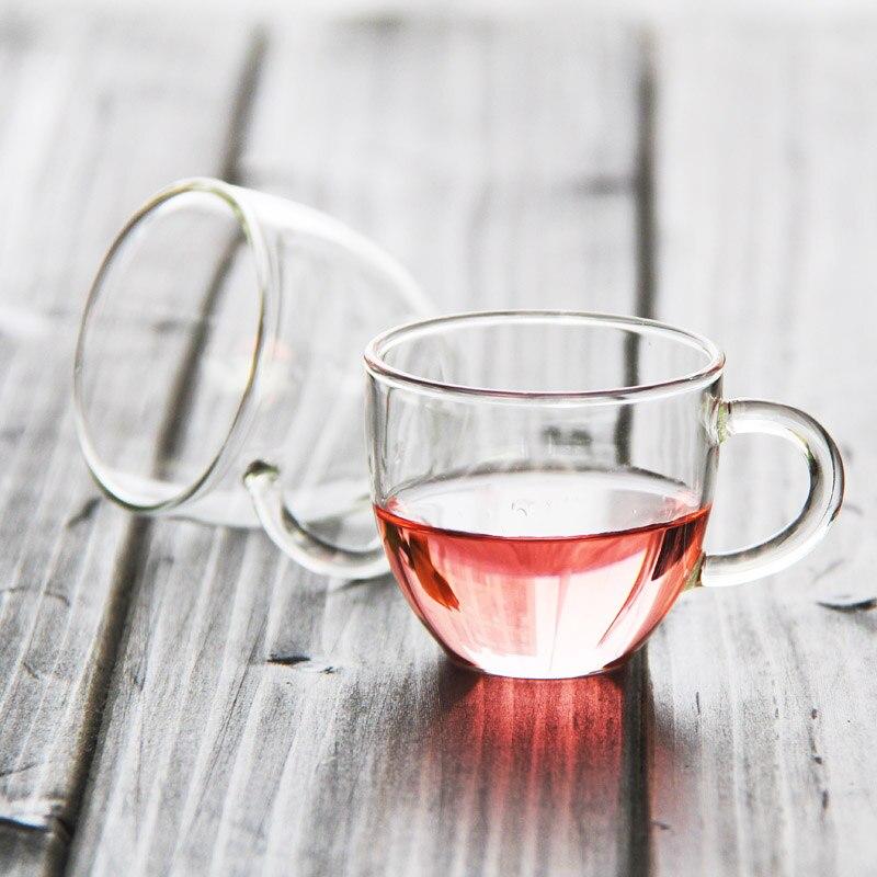 Бесплатная доставка Малый чашки, 80 мл оптовая продажа стекла питьевой посуда чай Пинта стеклянная чашка ...