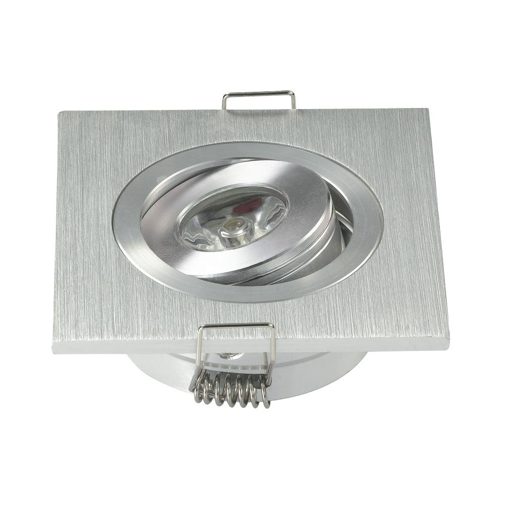 Lights & Lighting 200pcs/lot Black White Square Mini Led Downlight 3w Cabinet Lamp Hole Size:42mm Ce Rohs Led Ceiling Spot Light Brush Silver