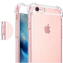 2018 For iphone 7 7Plus 6 S 6S 6Plus 8 8PLUS X 5S Original Clear Shockproof 360 Silicone TPU Transparent Phone Case Fundas Coque