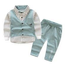 Crianças novas conjunto de roupas bebê menino algodão camiseta calças conjunto para primavera menino dos desenhos animados roupas ternos 2 cores 1 4 t