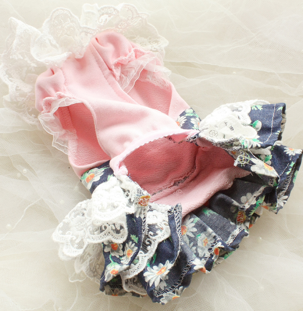 Transporti falas Daisy pak lule 3D lule dantella pantallona të gjera - Produkte për kafshet shtëpiake - Foto 2