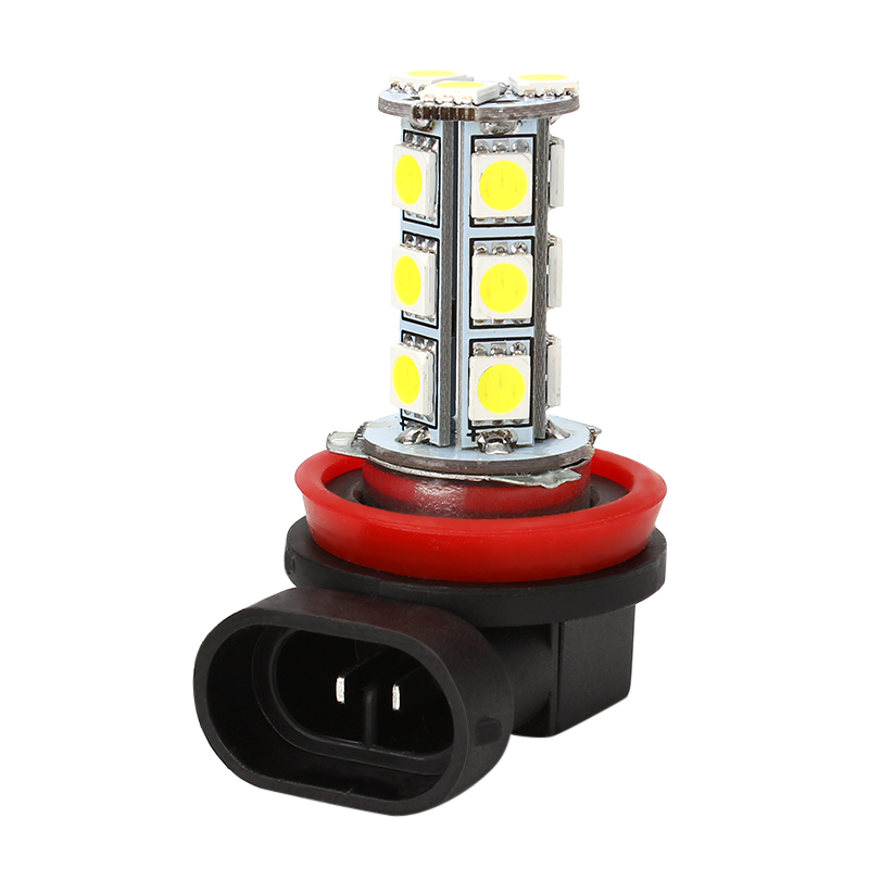 LED 5050 18 SMD LED lamps for cars Bulb  Car-styling H11 H8 DC12V Headlight Driving Fog Lights  White Universal forex b016 h 5050