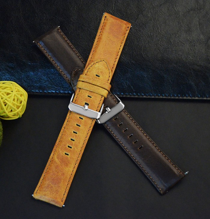 New Design Genuine Leather Watch band Strap 20mm 22mm Watches Bracelet Accessories Brown Men Ladies Watchbands For Brand survival nylon bracelet brown