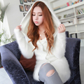 2016 new autumn and winter in the long haired mink cashmere coat mink cashmere sweater coat female hooded cardigan
