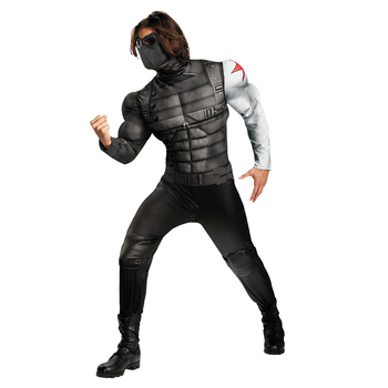 On Sale Adult Men's Muscle Winter Soldier Costume Marvel Avenger Superhero Fantasy Movie Fancy Dress Cosplay Clothing