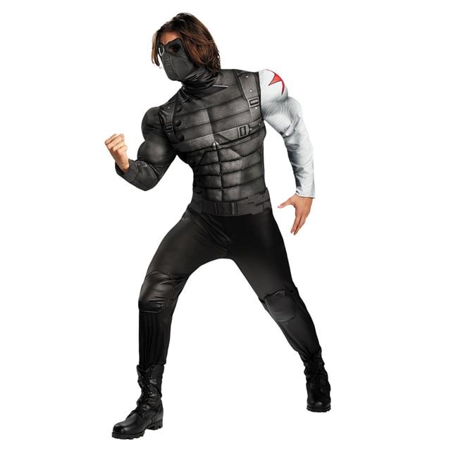 On Sale Adult Men's Muscle Winter Soldier Costume Marvel Avenger Superhero Fantasy Movie Fancy Dress Cosplay Clothing
