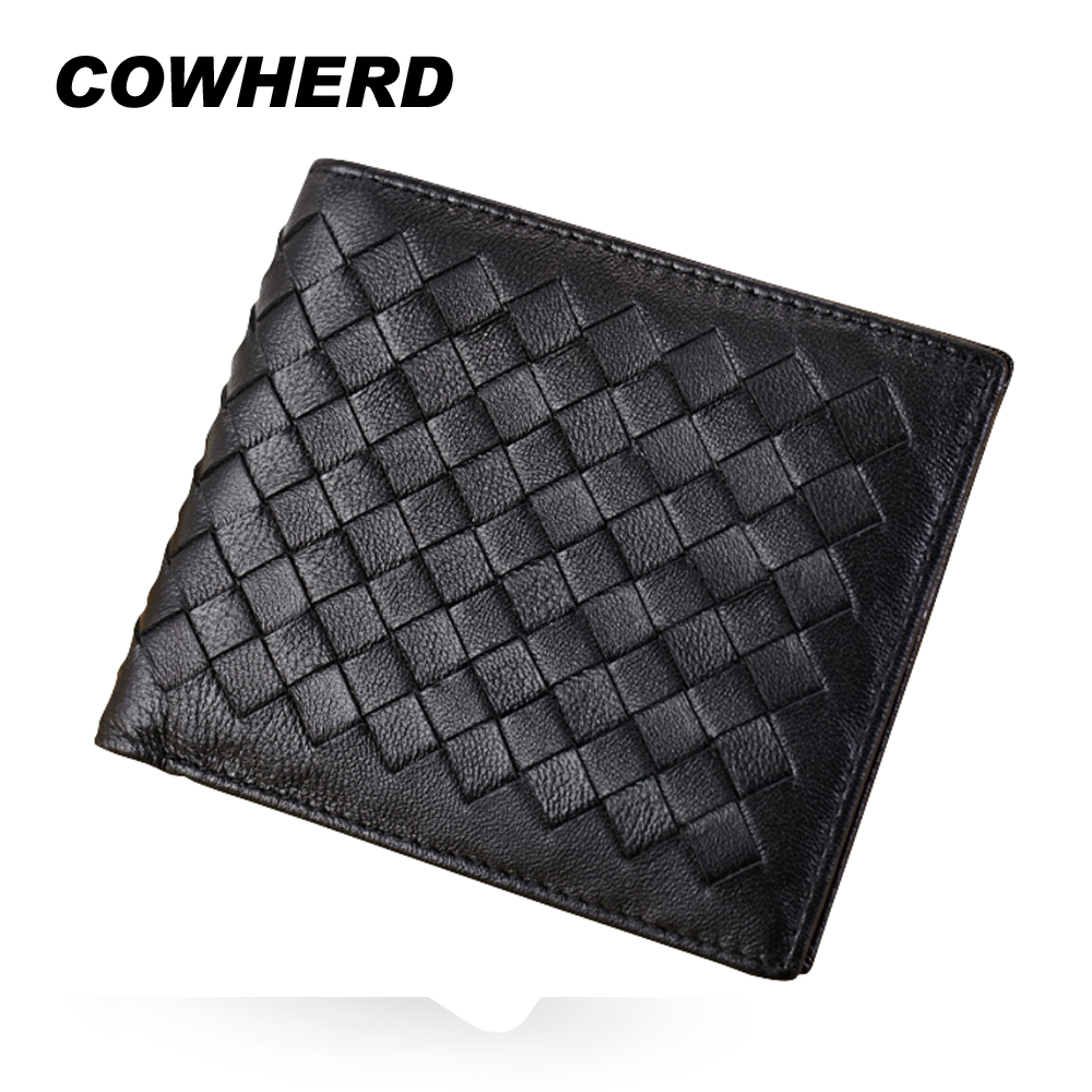 New Brand Hot Sheepskin Weave Men Wallets Fashion Male Clutch Wallet Genuine Sheep Leather Purses Card Holder Purses Coin Purse лампа автомобильная skyway st10a 2010b диод t10w5w12v 20smd блистер extra light