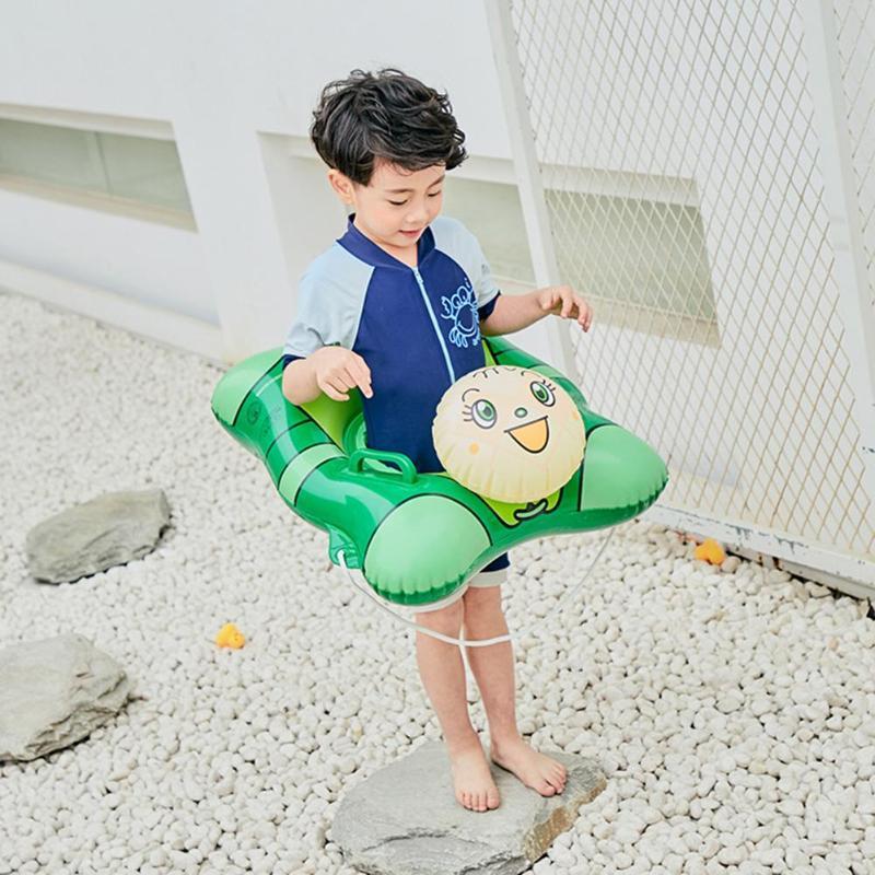 Cartoon Handle Safety Baby Seat Float Swim Ring Inflatable Infant Kids Swimming Pool Rings Water Toys Swim Circle