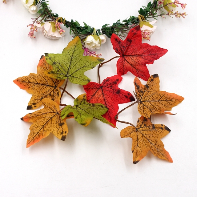 10pcs 6cm Maple Leaf Artificial Flowers For Diy Wedding Home Scrapbooking Decoration Accessories Needleworkwork Cheap  Flores