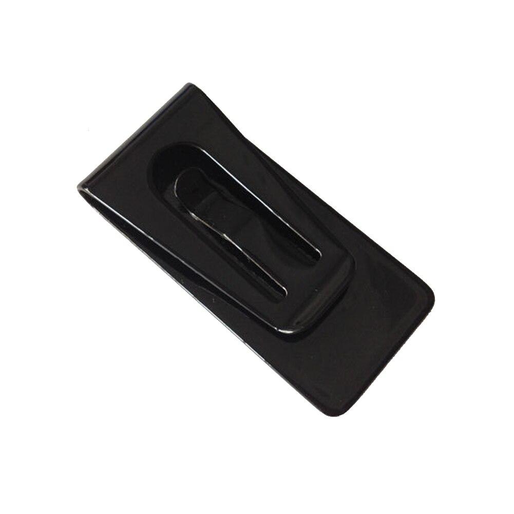 Stainless Steel Black Slim Pocket Cash Money Clip Holder Case HSJ88